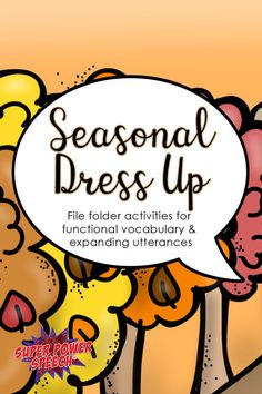 There's a fun activity for every season in this file folder set! I love how it works on both vocabulary and creating longer sentences!