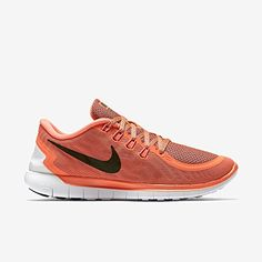 designer fashion 539ed 79c85 nike free 50 womens running trainers 724383 sneakers shoes us 65 hot lava  black tumbled grey