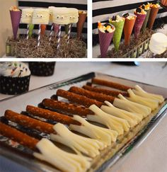 Halloween Party Snacks ~ Passion-for-Parti. Halloween Eve, Halloween Treats For Kids, Halloween Party Snacks, Holiday Snacks, Halloween Birthday, Holiday Recipes, Halloween Wishes, Holiday Decor, Halloween Entertaining