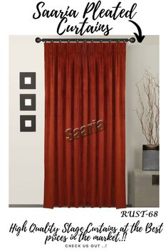 Home Theater Curtains, Stage Curtains, Home Theater Decor, Types Of Curtains, Pleated Curtains, Velvet Curtains, Home Decor, Curtain Panels, Panel Curtains