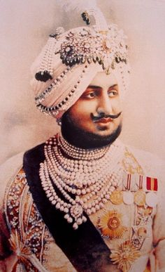 Bhupinder Singh was born at the Moti Bagh Palace, Patiala and completed his education at Aitchison College. He succeeded as Maharaja of Patiala upon death of his father, Maharaja Rajinder Singh, on 9 November 1900 at the age of Vintage India, Royal Jewelry, Indian Jewelry, Jewellery, Ethnic Jewelry, Luxury Jewelry, Gold Jewelry, Turbans, Jaisalmer