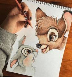 ▷ 1001 + ideas for cool things to draw - photos and tutorials . - ▷ 1001 + ideas for cool things to draw – photos and tutorials bambi inspired, c - Easy Pencil Drawings, Easy Disney Drawings, Art Drawings Sketches, Love Drawings, Colorful Drawings, Cartoon Drawings, Disney Pencil Drawings, Drawing Disney, Bambi