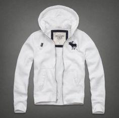 Abercrombie & Fitch Men's Sawteeth Mountain Hoodie White XL