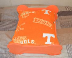Dog Bed Tennessee Orange pet bed by MysticMntCreations on Etsy