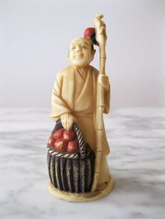 Man with Apples -  Meiji Period