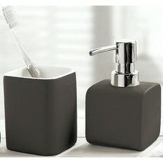 Square Bath Accessories With Pastel Matte Finish