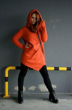 Women's Hoodie Warm Hoodie Cotton Coat by clothesNavaho on Etsy