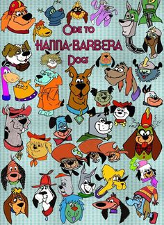 Ode to Hanna Barbera Dogs by slappy427