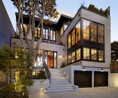 Russian Hill Residence - modern - exterior - san francisco - by Charlie Barnett Associates Modern Exterior, Exterior Design, Grey Exterior, Cottage Exterior, Future House, My House, House On A Hill, Architecture Résidentielle, Contemporary Architecture