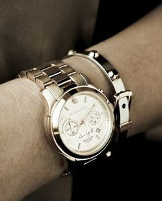 Michael Kors has made luxury watches so accessible. Bravo