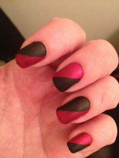 Harley Quinn nails for Halloween.