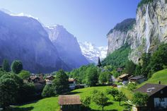 What a beautiful site to wake up to each morning!  Staubbach Falls in Lauterbrunnen Switzerland.  A little piece of heaven on earth!  Thank you God!