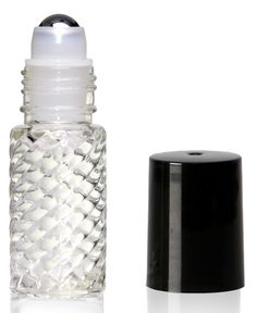 Fragrant In case Of 12 Pc Flavor 5ml Roll On Glass Swirl Bottle With Houding Ball And Blue Cap