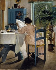 Ring, Laurits Andersen (1854-1933) - 1898 At Breakfast with the Newspaper (National Museum, Stockholm, Sweden) by RasMarley, via Flickr