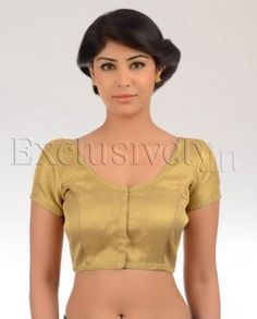 #Exclusivelyin, #IndianEthnicWear, #IndianWear, #Fashion, Gold Brocade Princess Cut Sari Blouse