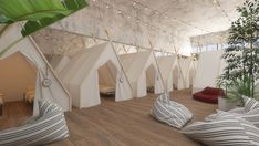 A low-cost pod hostel is opening in Tel Aviv next month — Lonely Planet Deco Spa, Small Studio Apartments, Modern Apartments, Tent Room, Capsule Hotel, Hotel Room Design, Europe On A Budget, Studio Apartment Decorating, Minimalist Apartment