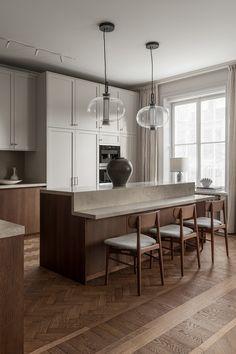 Interior Simple, Interior Modern, Home Interior, Interior Design Kitchen, Interior Colors, Interior Design Magazine, Nordic Kitchen, Home Decor Kitchen, Home Kitchens