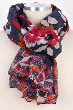 Floral Kaleidoscope Scarf – Bag Brag Co.
