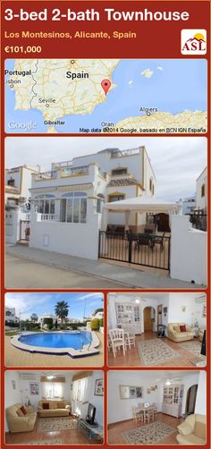 3-bed 2-bath Townhouse in Los Montesinos, Alicante, Spain ►€101,000 #PropertyForSaleInSpain