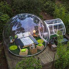 Bubble Tree, Bubble House, Backyard Camping, Outdoor Camping, Camping Outdoors, Diy Camping, Backyard Greenhouse, Camping Hacks, Backyard Landscaping