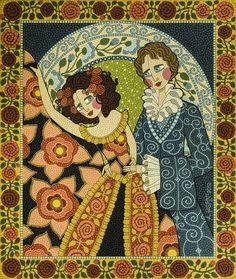 A bailarina e o advogado - mosaico de tinta - Andrea Horn