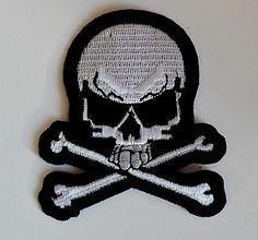 White Skull Iron On Patch http://www.ebay.co.uk/itm/White-Skull-Iron-Patch-skulls-punk-rock-goth-biker-denim-leather-jacket-emo-1-/281215527580?pt=UK_Women_s_Vintage_Clothing&hash=item4179c06a9c