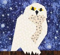 Free Harry Potter quilt patterns and quilt block patterns. Sew a special quilt for your favorite Harry Potter enthusiast.: Hedwig Quilt Block Pattern
