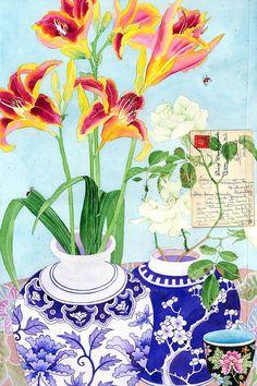Gabby Malpas — Letter.jpg (575×864) | Still Life — 21th century with Flowers | Pinterest