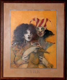 Artist: Ramon Santiago, American (1943 - 2001)  Title:Cyrk - II   Year: 1982