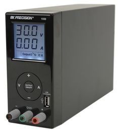 Model 1550, is a compact bench power supply with a bright easy to read LCD with a unique USB charging output connector that can charge a cell phone or an MP3 type device independently from the main output. This is an ideal power source for hobbyists or college students with a limited budget.