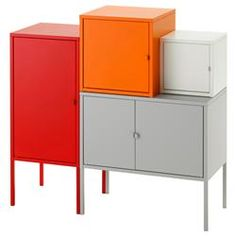 IKEA - LIXHULT, Storage combination, gray& , A colorful and complete combination where you can store both large and small items.Keep track of important papers, letters and newspapers by sorting them on the inside of the cabinet door. Armoire Ikea Ps, Ikea Ps Cabinet, Sideboard Cabinet, Cabinet Doors, Credenza, Cupboard Storage, Storage Cabinets, Storage Shelves, Ikea Lixhult