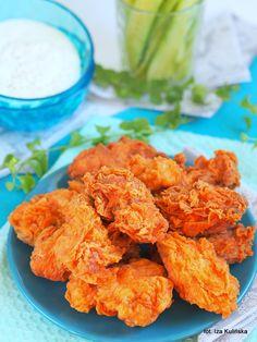 Hot wings. Pikantne skrzydełka a'la KFC | Smaczna Pyza Kfc, Honey Lime Chicken, Cooking Recipes, Healthy Recipes, Healthy Food, Polish Recipes, Wing Recipes, Chicken Wings, Chicken Recipes