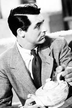 Tea with Cary Grant  Source: www.madness-in-suit.tumblr.com/