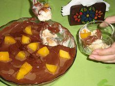 Receita de Receita de Pavê de sorvete de creme com pêssegos