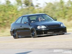 1999 Honda Civic Si Full View With BYS front bumper!