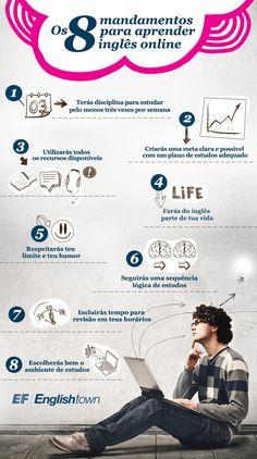 8 mandamentos para aprender inglês online