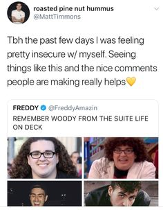 Awww Woody ❤️ Nice Comments, Man Crush Monday, Suite Life, Faith In Humanity Restored, Reality Check, I Can Relate, Hilarious, Funny, Woody