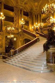 A-ma-zing.-I think its the one from the Phantom of the Opera movie Beautiful Castles, Beautiful Homes, Beautiful Places, Beast's Castle, Tale As Old As Time, Interesting Buildings, Disney Beauty And The Beast, Grand Staircase, Places Around The World