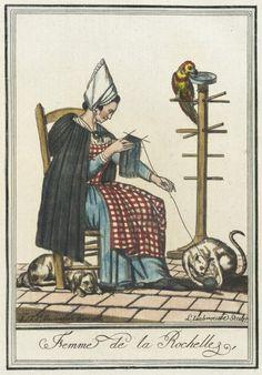 Costumes de Différent Pays, 'Femme de la Rochelle'  Labrousse, 1797.