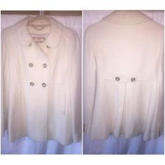 Juicy Couture Wool Double Breasted Coat Brand new never worn juicy couture wool coat never worn. Been stored in my closet. Needs somwboys who will wear it Juicy Couture Jackets & Coats