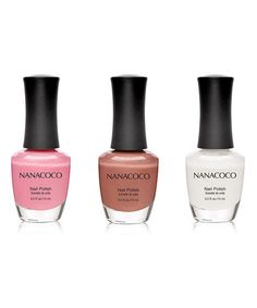 Loving this Snow White, Sweet Sixteen & Too Too Dancing Nail Polish Set on #zulily! #zulilyfinds