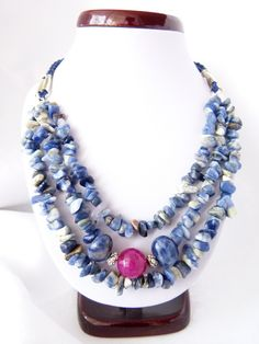 #gemstones  Sodalite + agate (http://taki-drobiazg.pl/N65)
