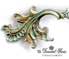 """The Decorated House: How To Create Beautiful Turquoise Patina - """"Secret"""" Tutorial - French Drawer Pulls"""