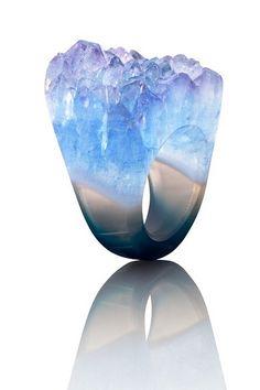 Joya druzy crystal ring