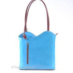 Torebka i plecak w jednym, przepiękny odcień koloru jasnoniebieskiego (błękitny). Noś ją w ręku, na ramieniu lub na plecach! Wymiary 30x30 cm, wszystkie zdjęcia: http://torebki-damskie.eu/niebieskie-blekitne-granatowe/1169-jasnoniebieska-blekitna-torebka-plecak.html