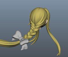 3d anime braid zbrush