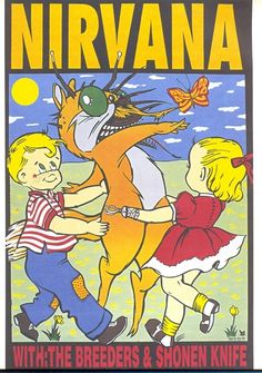 Nirvana-The Breeders,etc.. music gig posters | Music = Happiness / Strange gig poster