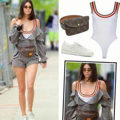 As últimas semanas de moda resgataram as pochetes, consideradas 'bregas' atualmente. E a Kendall Jenner soube explorar bem essa tendência, combinando uma pochete vintage da #louisvuitton com um macaquinho da #mrselfportrait, um body #kendallkylie e um tênis da #adidas. Arrasou!👊♥️💥 #kendalljenner #creative #fashion #style #inspirations