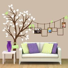 Tree and Picture Frames Vinyl Wall Decal