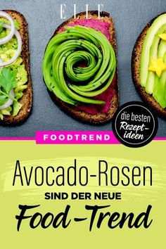 Rosen aus Avocado sind der neue Food-Trend! #avocado #avocadorosen #foodtrend #rezepte #elle Food Trends, Avocado Toast, Breakfast, Vegetarian Recipes, Healthy Recipes, Salads, Healthy Dieting, Healthy Breakfast Meals, Healthy Eating
